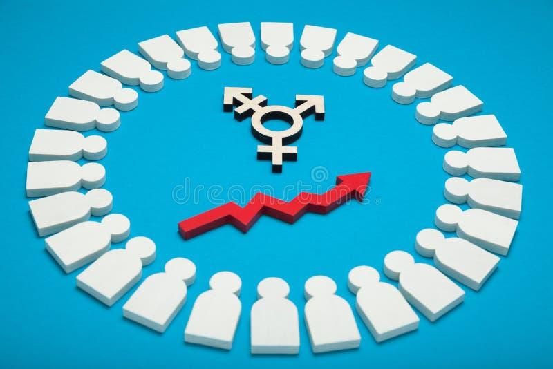 手术变性,性别转折 性容忍概念 免版税库存照片