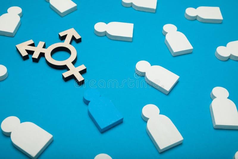 手术变性,性别转折 性容忍概念 图库摄影