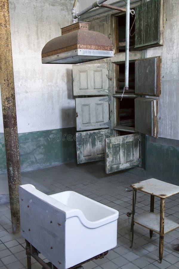 手术室和教室在埃利斯岛医院病房里 免版税库存图片