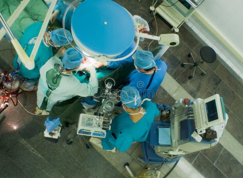 手术室工作 库存图片