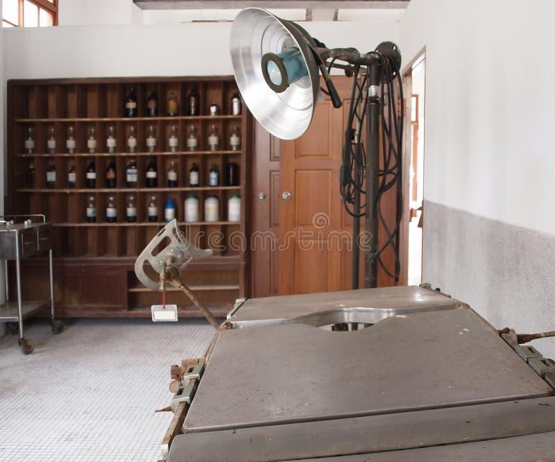 手术室葡萄酒 库存图片