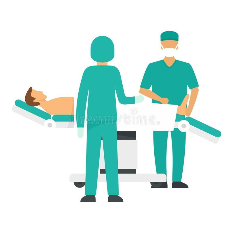 手术操作象,平的样式 皇族释放例证