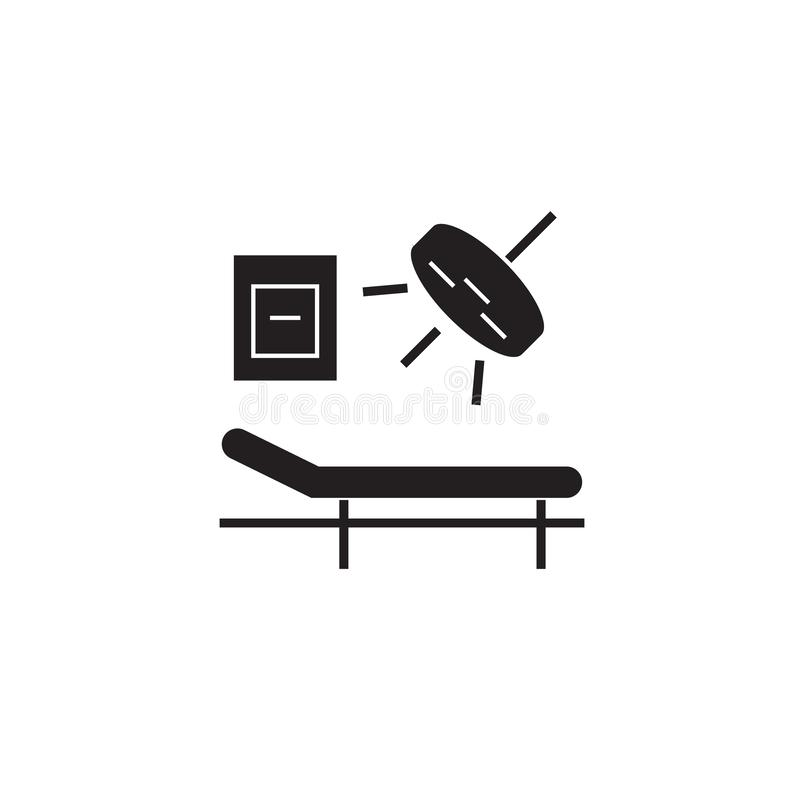 手术骨炭传染媒介概念象 手术室平的例证,标志 皇族释放例证