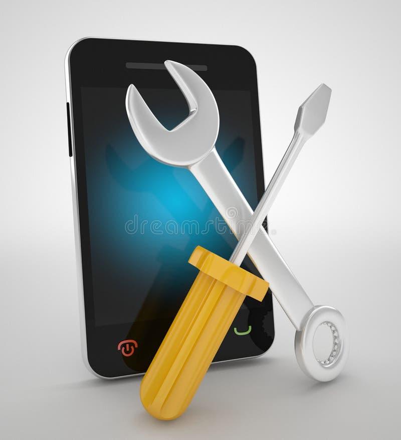 手机修理公司概念 库存例证
