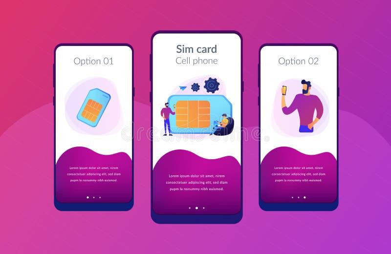 手机卡片app接口模板 皇族释放例证
