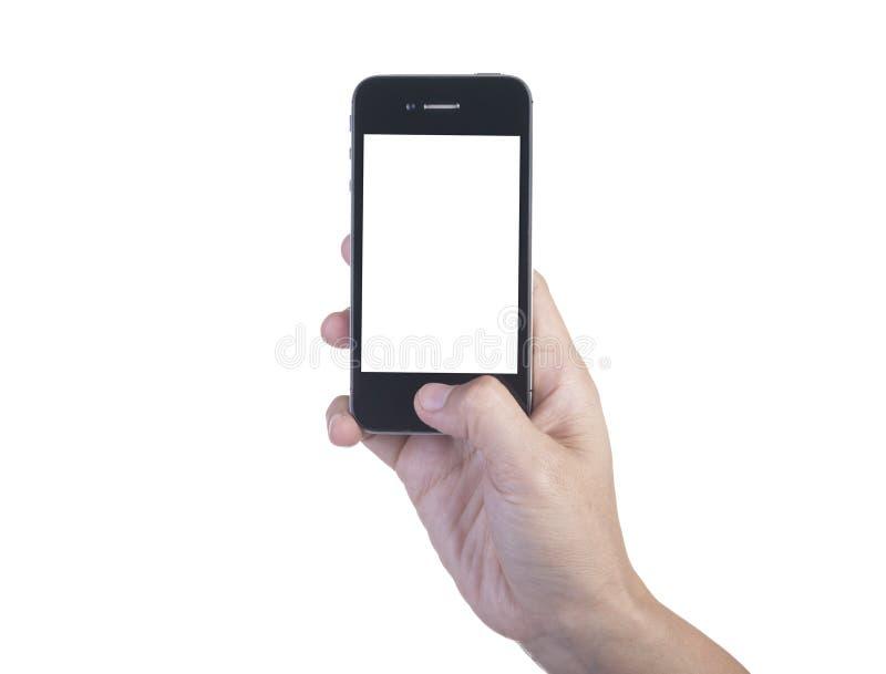 手机在手边 库存照片