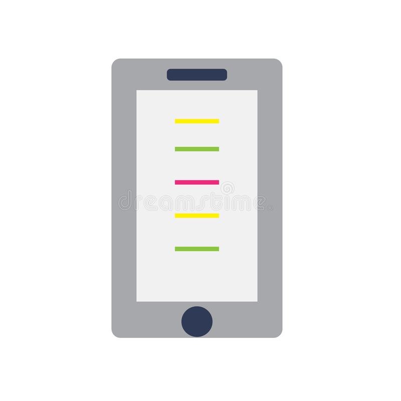 手机在白色背景隔绝的象传染媒介,手机标志,五颜六色的设备标志 向量例证