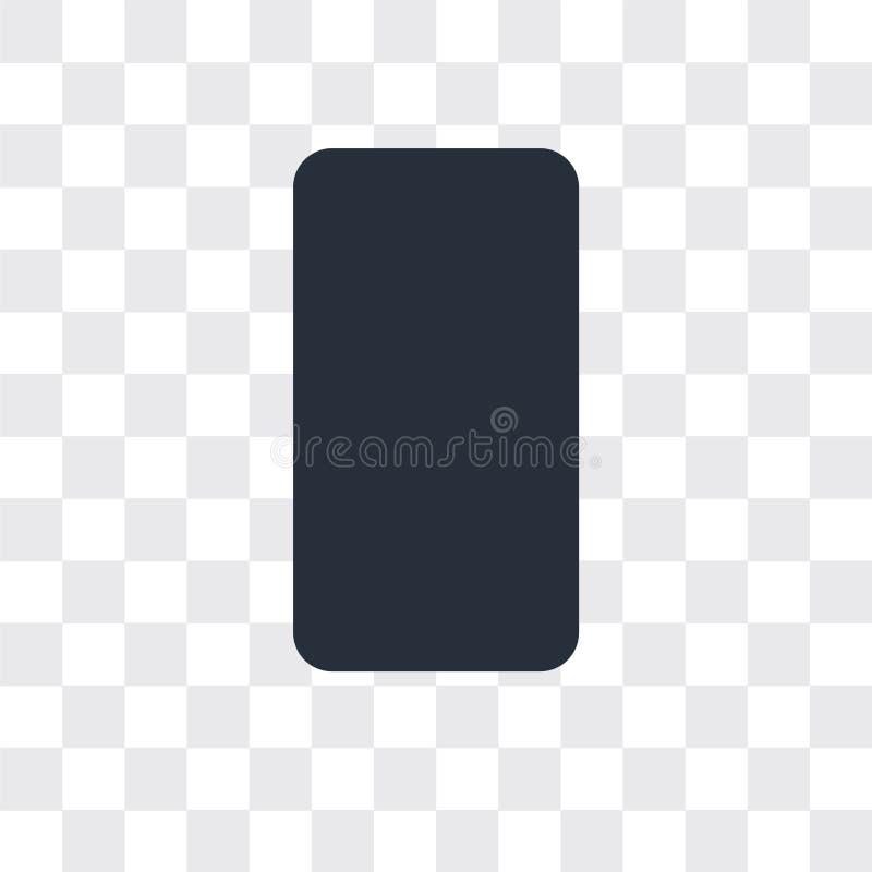 手机在透明背景,手机商标设计的传染媒介象 库存例证