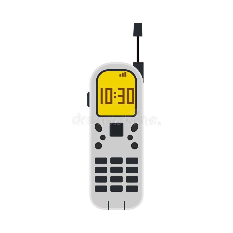 手机技术屏幕平的标志传染媒介象 企业电话设备空白小配件平的概念 皇族释放例证