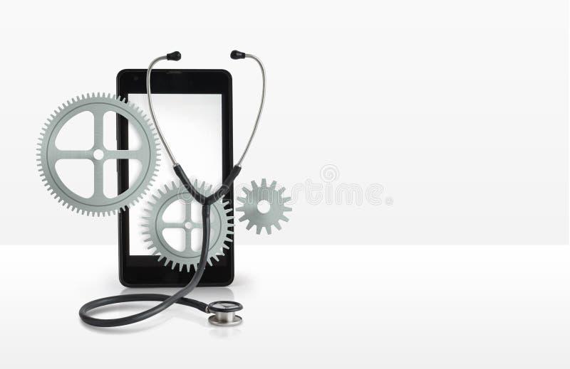 手机横幅修理  皇族释放例证