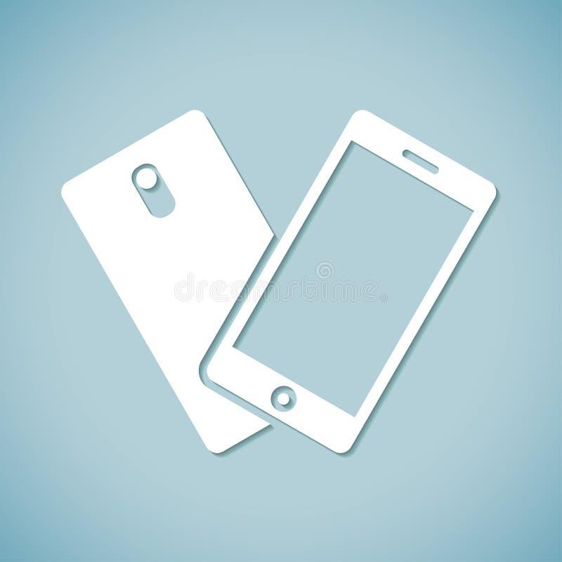 手机横幅 库存例证