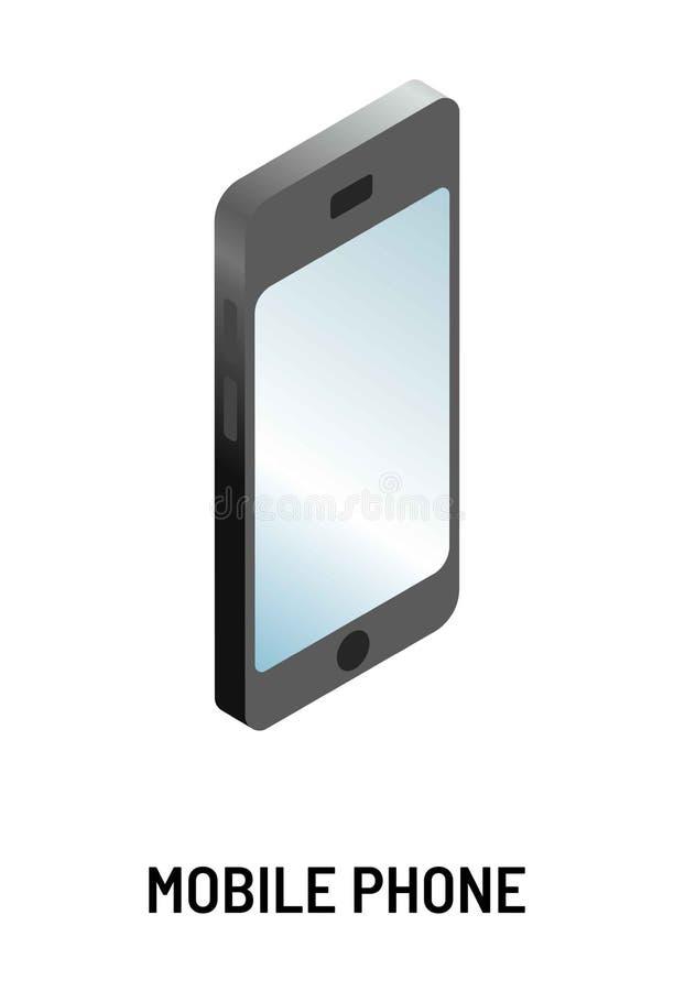 手机现代设备或小配件智能手机被隔绝的对象 向量例证