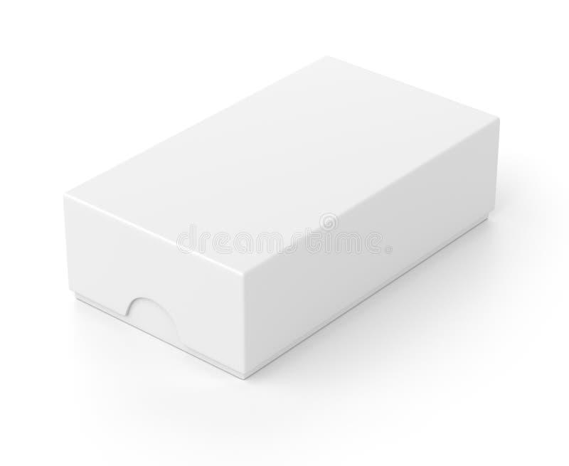手机的关闭框包裹在白色 皇族释放例证