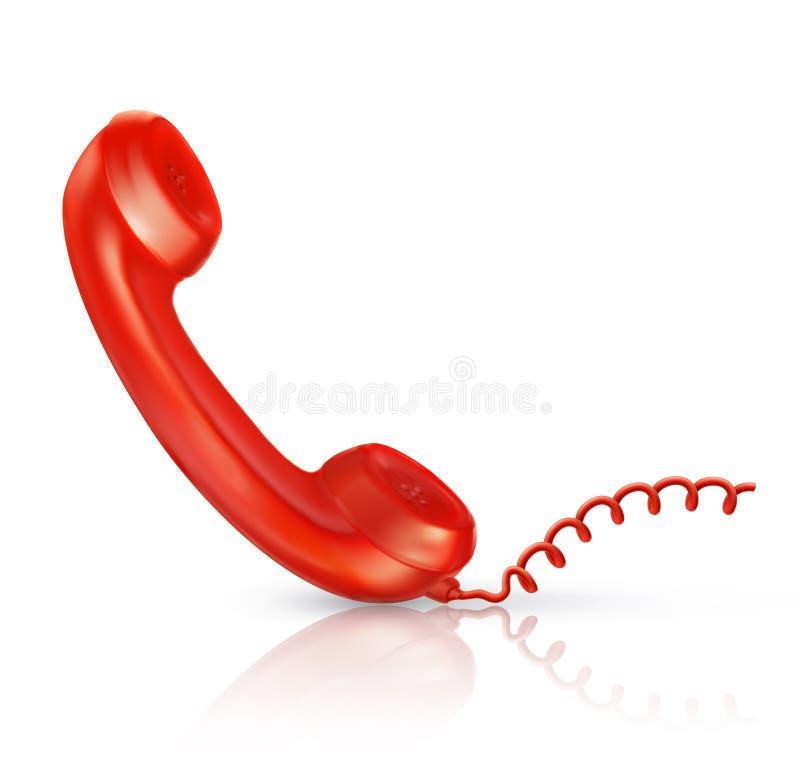 手机红色 皇族释放例证