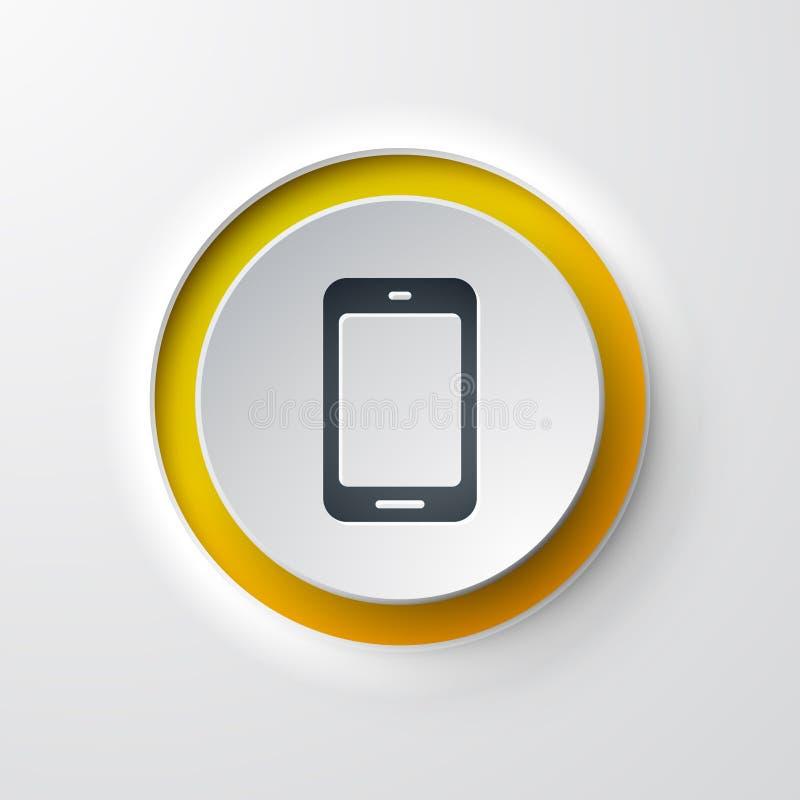 手机网象 向量例证