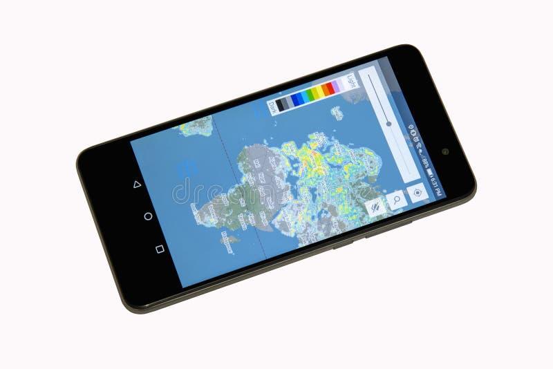 手机聪明的电话apps 库存照片