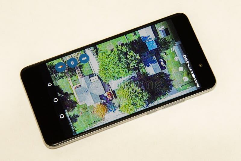 手机聪明的电话apps 免版税库存照片