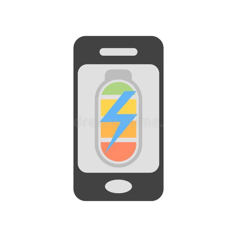 手机象在白色背景和标志隔绝的传染媒介标志,手机商标概念 库存例证