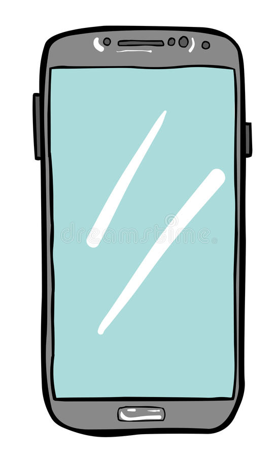 手机象的动画片图象 智能手机图表 皇族释放例证