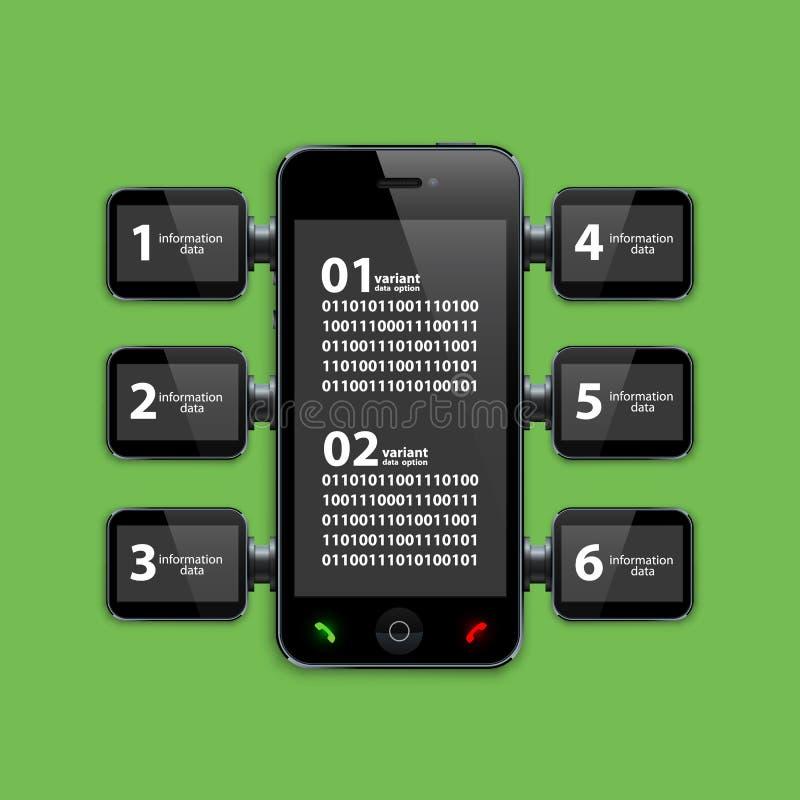 手机infographics 向量 皇族释放例证