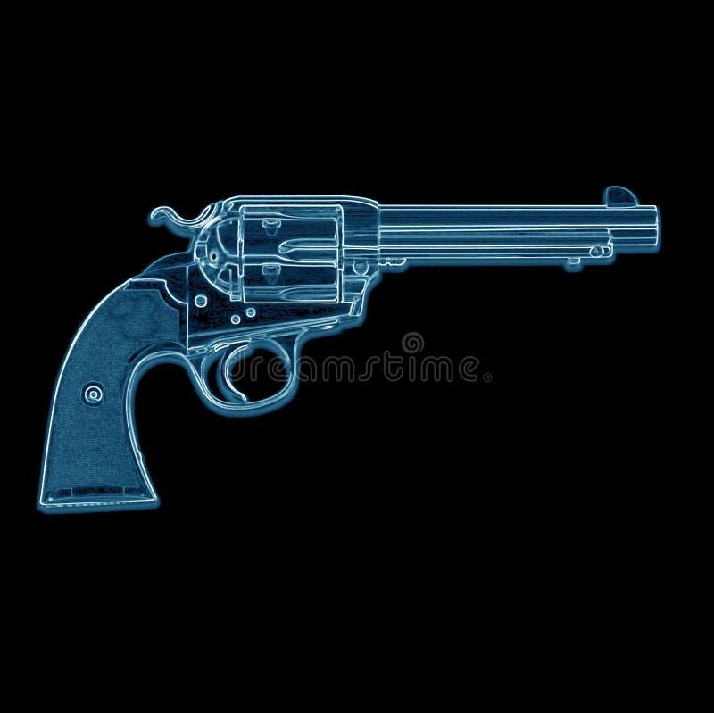 手枪光芒x 库存照片