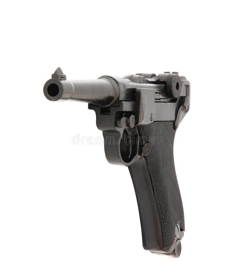 手枪在白色背景隔绝的手枪武器 免版税图库摄影