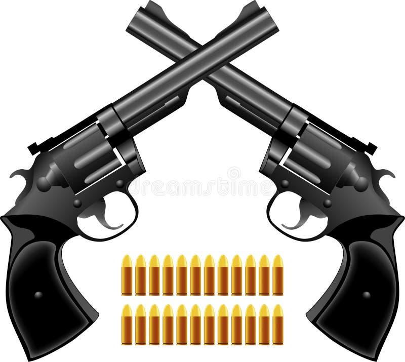 手枪左轮手枪 库存照片