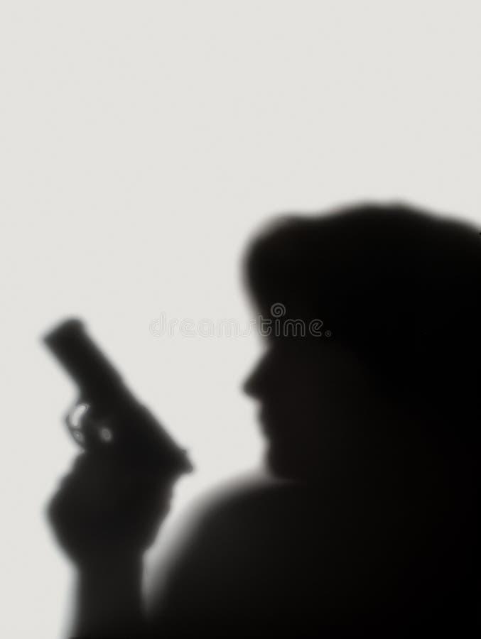 手枪树荫陌生人 免版税图库摄影