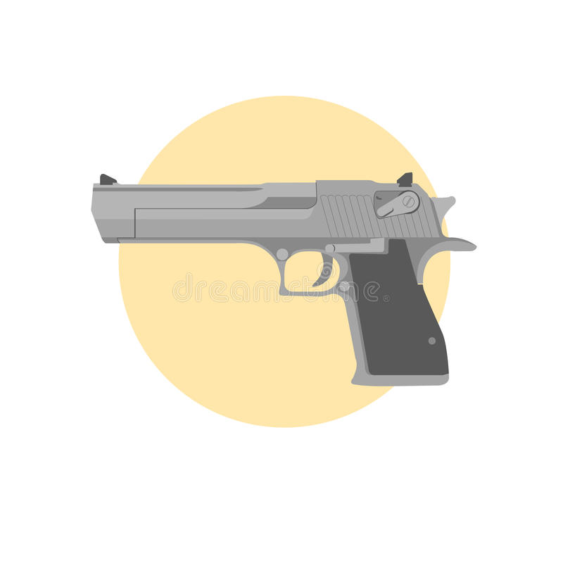 手枪沙漠老鹰 免版税库存图片