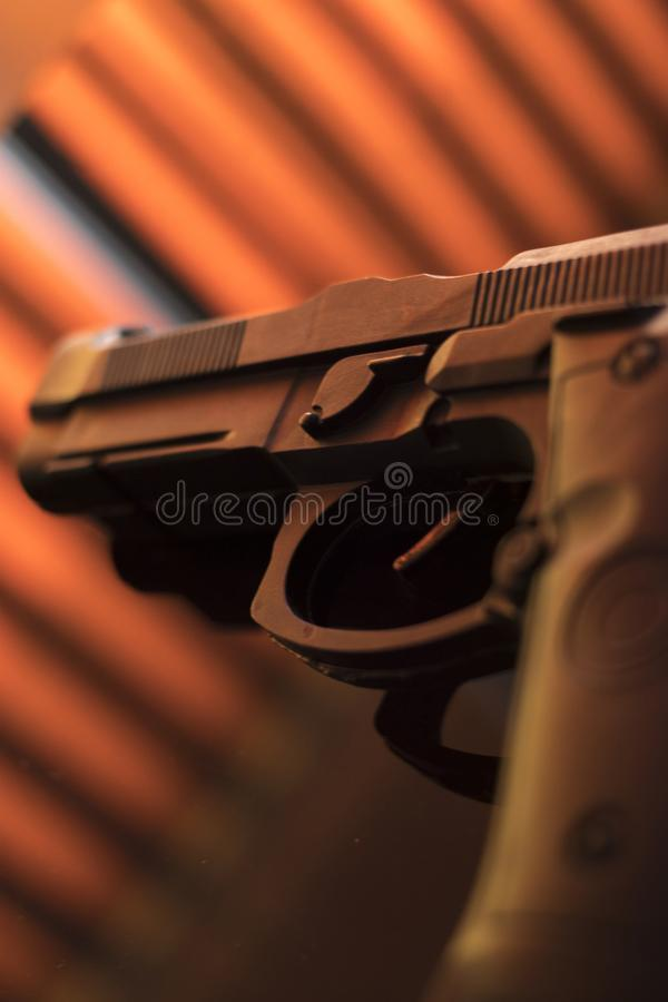 手枪自动手枪 库存照片
