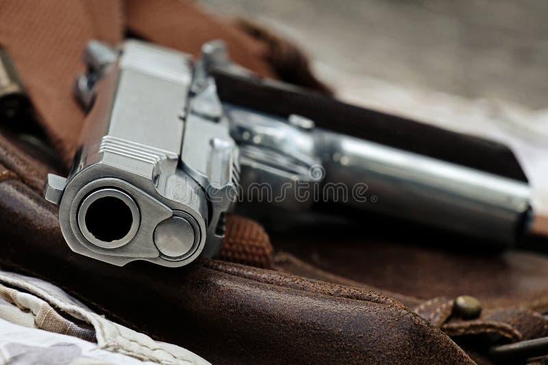 手枪,半自动 免版税库存图片