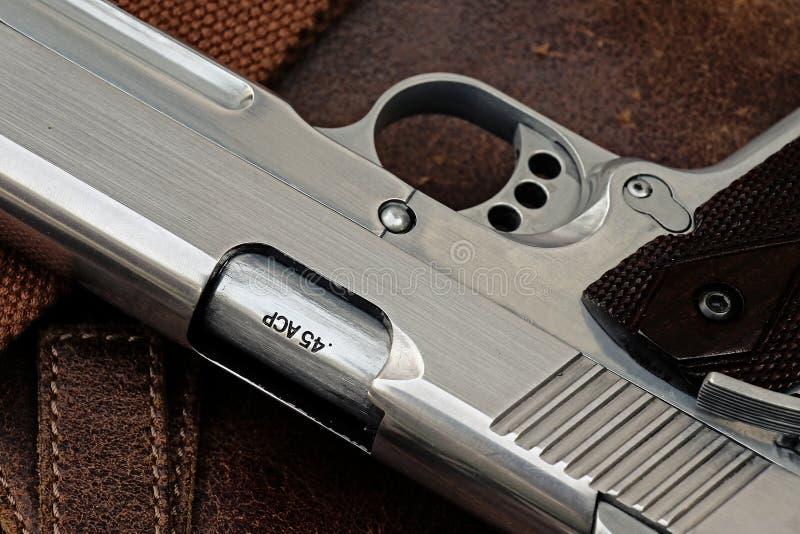 手枪,半自动 免版税库存照片