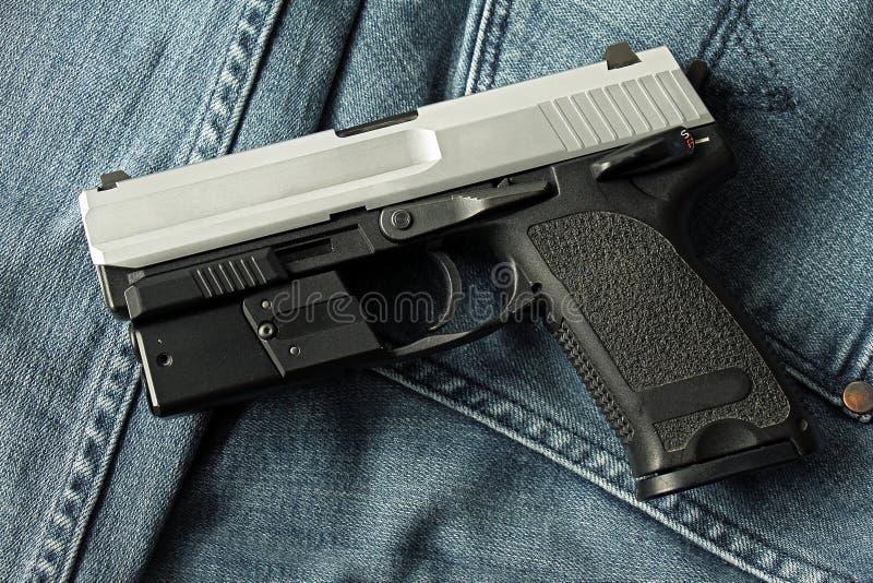 手枪,半自动 库存图片