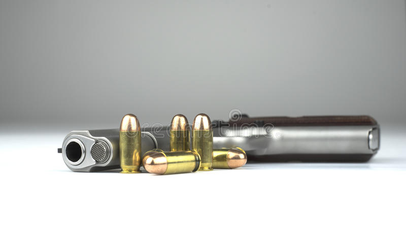 手枪1911年 库存图片