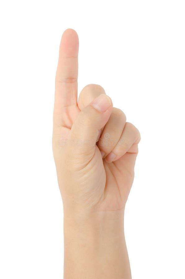 手标志 免版税图库摄影