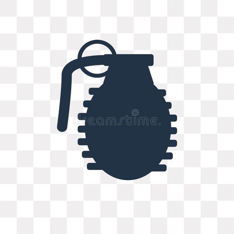 手榴弹在透明背景隔绝的传染媒介象,手榴弹 向量例证