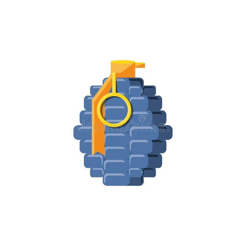 手榴弹易爆的被隔绝的象 库存例证
