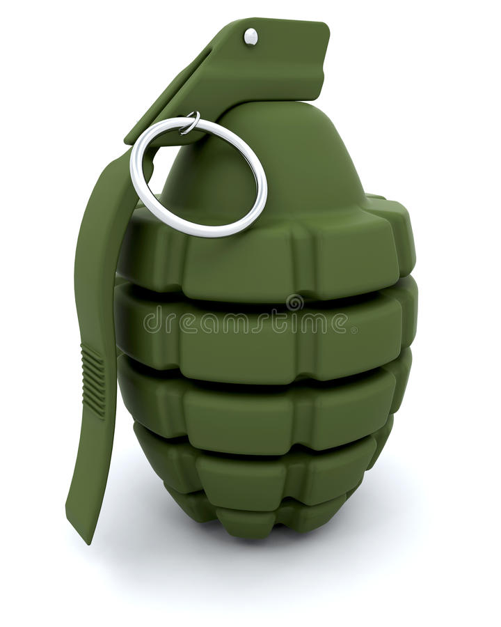 手榴弹现有量 皇族释放例证