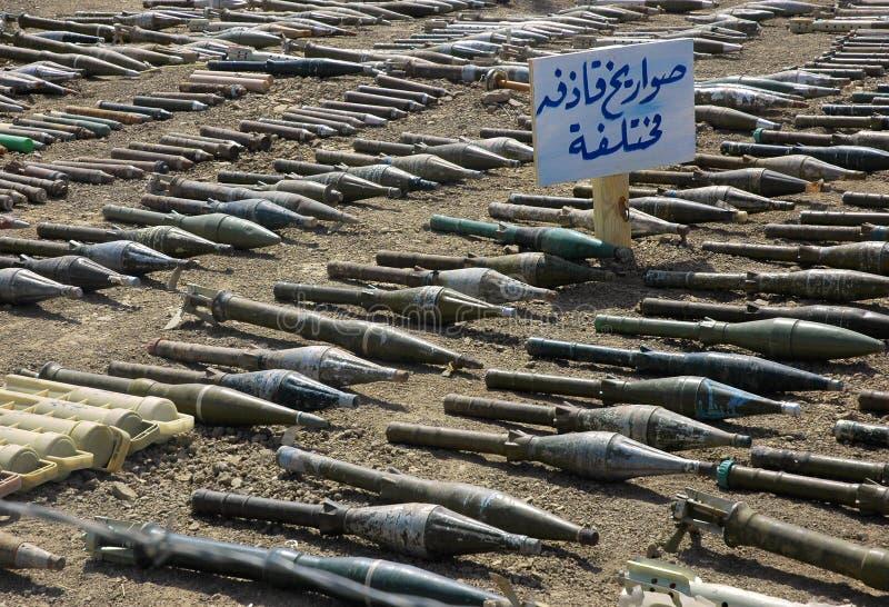 手榴弹被推进的火箭 免版税库存图片