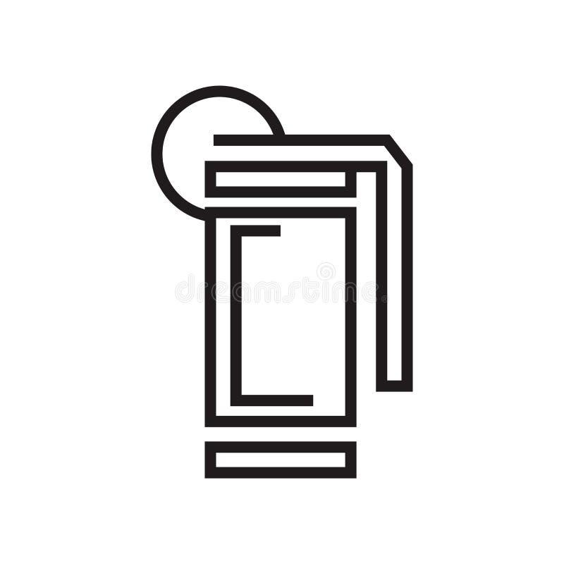 手榴弹象在白色背景和标志隔绝的传染媒介标志,手榴弹商标概念 库存例证