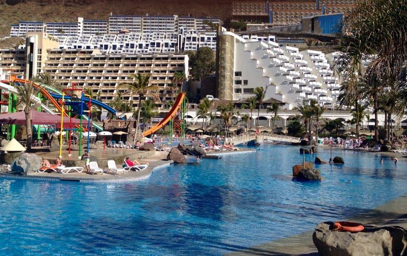 手段在大加那利岛,西班牙 免版税图库摄影