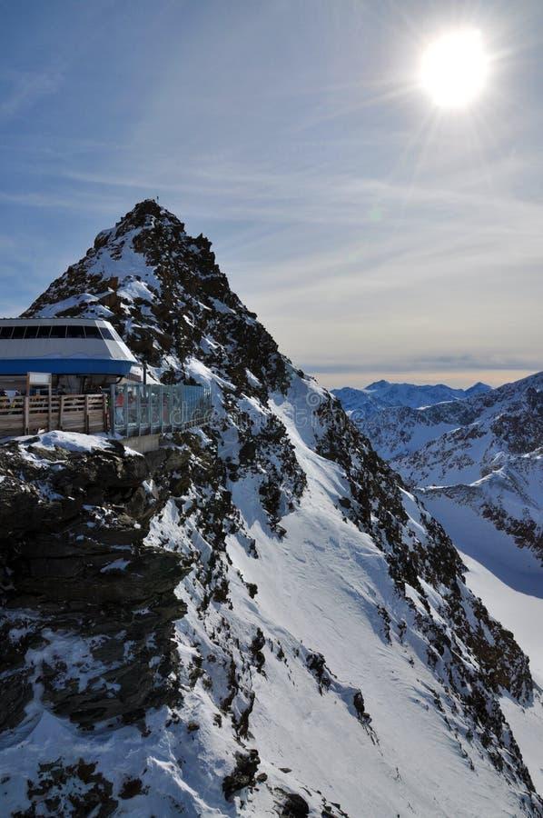 手段滑雪solden 免版税图库摄影