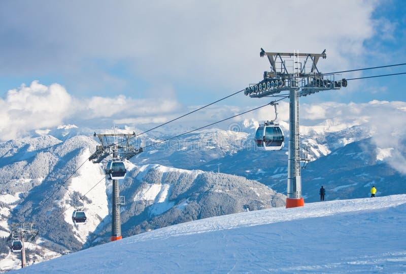 手段看到滑雪zell 库存图片