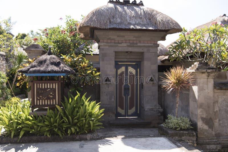 手段,巴厘岛入口别墅  库存图片