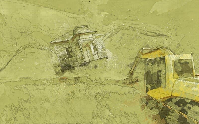 手油漆抽象背景 皇族释放例证