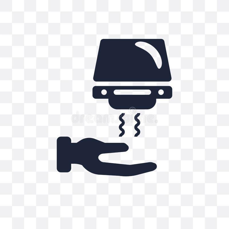 手烘干机透明象 从干净的手更加干燥的标志设计 向量例证