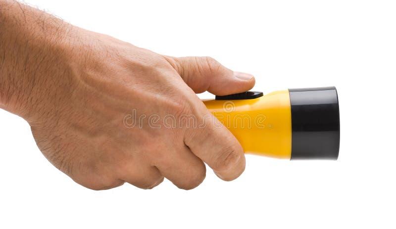 手电现有量塑料黄色 免版税库存照片