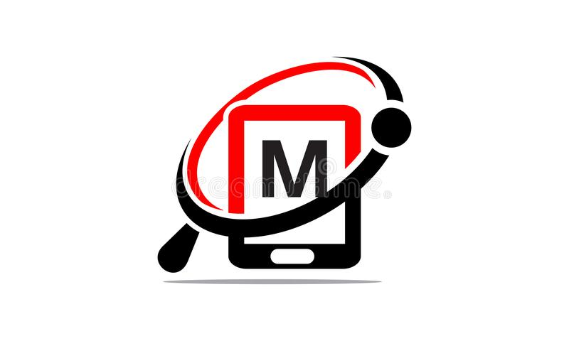 手电话查寻最初M 皇族释放例证