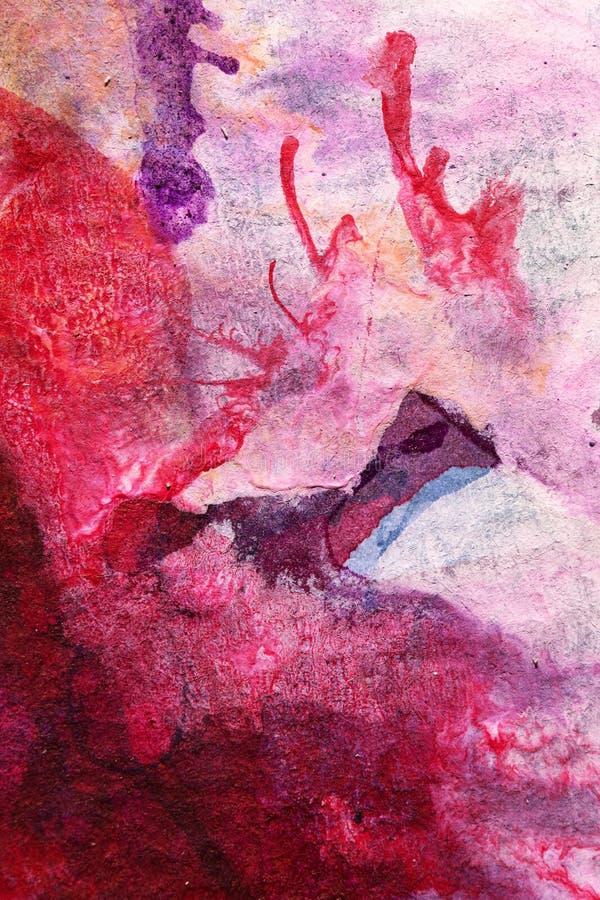 手画抽象树胶水彩画颜料 图库摄影