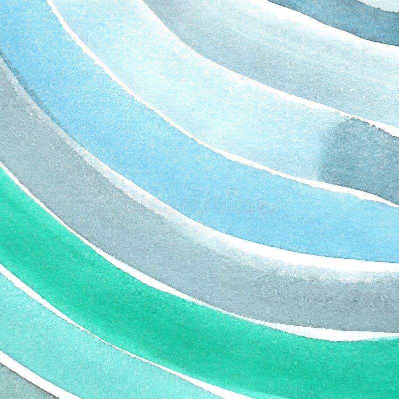 手画水彩背景 水彩污点和线 免版税库存图片